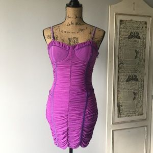 Do & Be ruched dress Sz M NWT